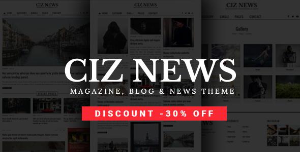 Ciz News - Magazine & Blog Theme