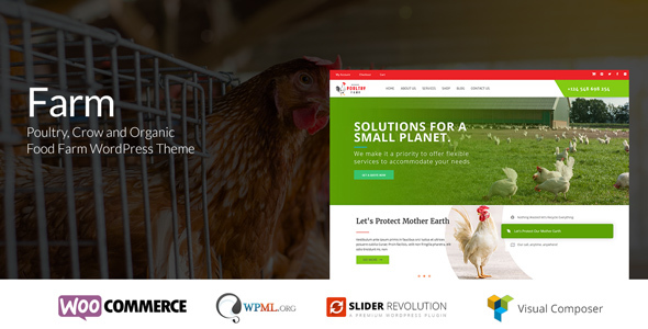Farm - Organic Poultry & Crow WordPress Theme