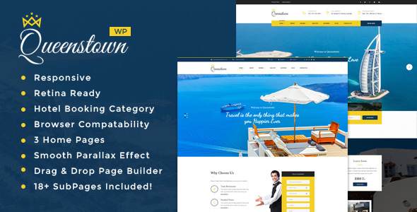 QueensTown : Resort and Hotel WordPress Theme