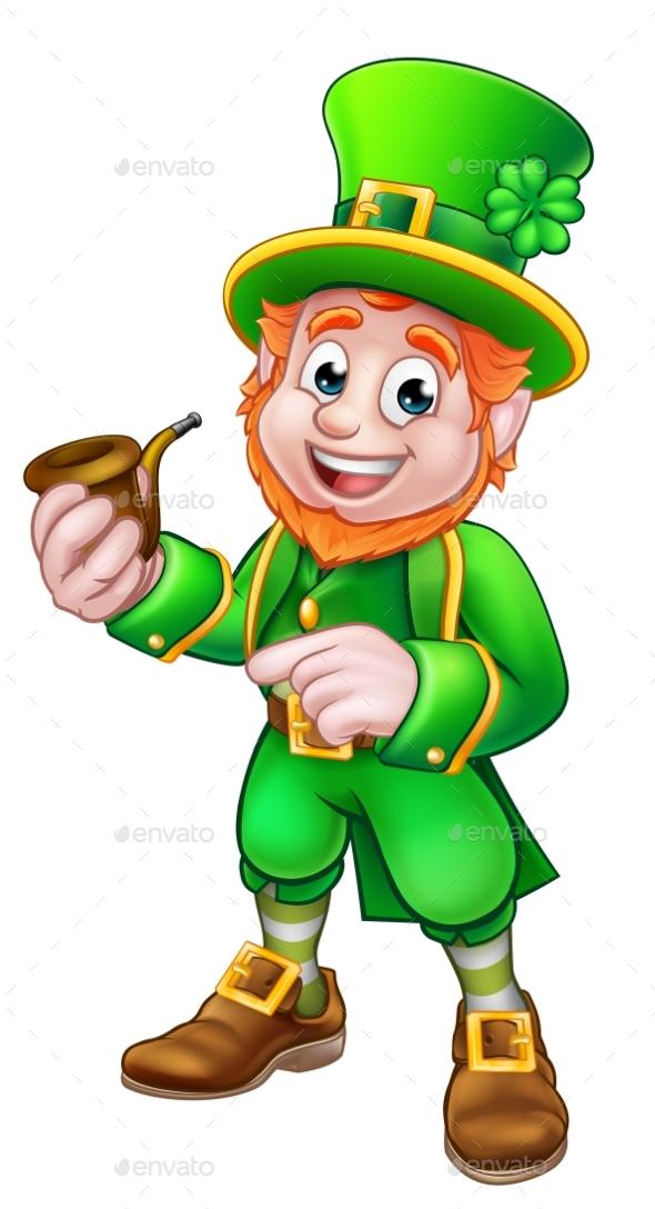 Leprechaun St Patricks Day Illustration