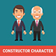 Constructor Character Businessman and Old Businessman - GraphicRiver Item for Sale