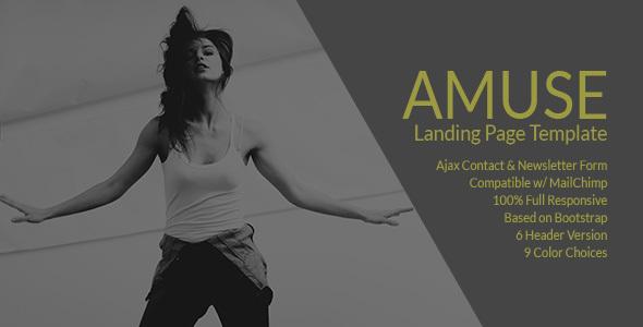Amuse - A Multipurpose Landing Page Template