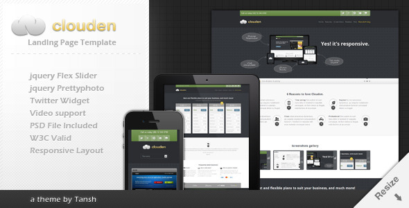 Clouden Responsive Landing /One Page Template