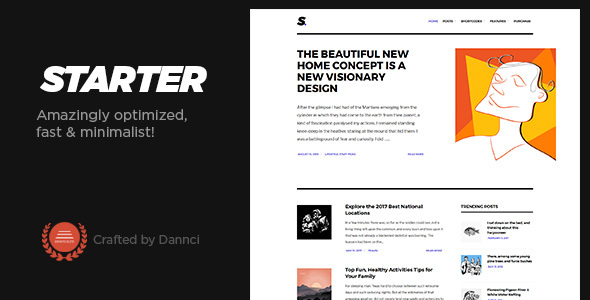 Starter - Optimized, fast & minimalist blog theme!