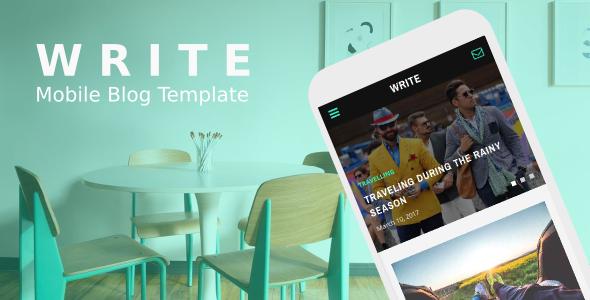 Write - Mobile Blog Template
