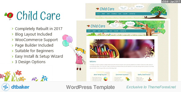 Child Care Creative - WordPress Shop Theme
