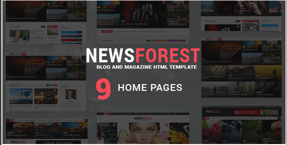 NewsForest –  Magazine / Blog HTML Template + RTL