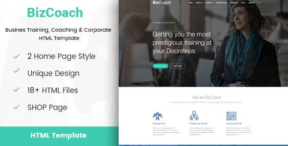 BizCoach – Busines Training, Coaching & Corporate HTML Template