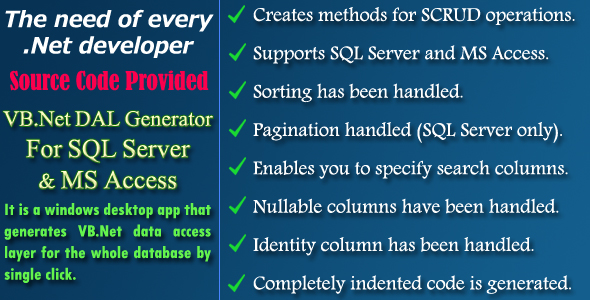VB.Net DAL Generator - Source Code