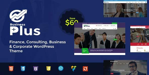 Business Plus – Finance Consultancy WordPress Theme Free Download