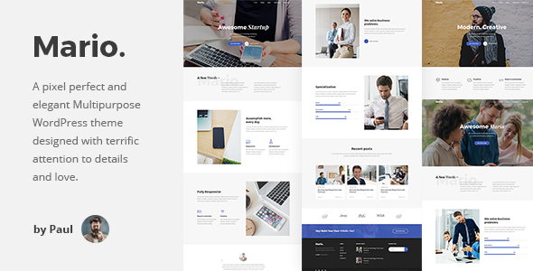 Mario. - Creative Multipurpose WordPress Theme