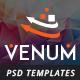 Venum One Page Creative Multipurpose PSD Template - ThemeForest Item for Sale