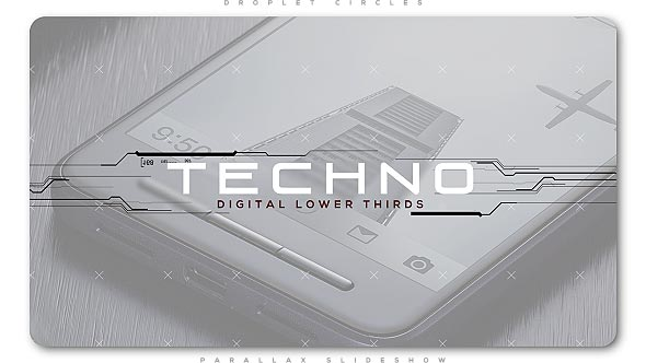 Techno Digital Lower Thirds