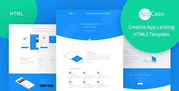 AppCase - Responsive App Landing Page Template