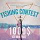 Fishing Contest Flyer Template - GraphicRiver Item for Sale