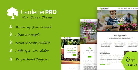 GardenerPro - Gardening & Lawn Care Landscaping WordPress Theme