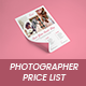 Photographer Pricing Guide - GraphicRiver Item for Sale