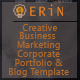 Erin - One and Multipage Creative, Business, Corporate Agency and Personal Portfolio HTML Template - ThemeForest Item for Sale