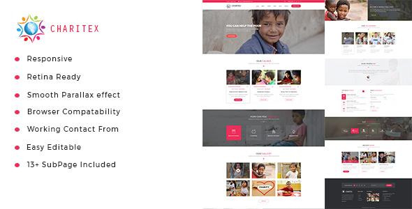 Charitex | Charity Non-Profit HTML5 Template