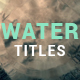 Water Ripple Rain Titles - VideoHive Item for Sale