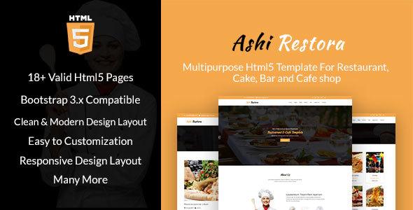 Aashi Restora - Multipurpose HTML5 Template For Restaurant, Cake, Bar and Cafe shop