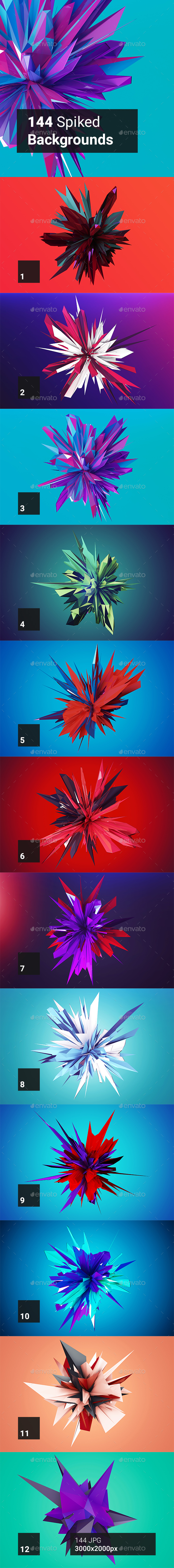 144 Spiked Backgrounds