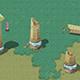 Cartoon Sky City -Turn the column - 3DOcean Item for Sale