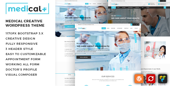 Medical Plus - Health Care, Clinic WordPress Theme