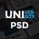 University Educational PSD Template - ThemeForest Item for Sale