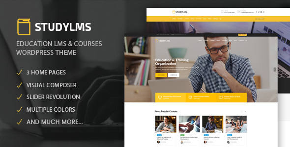 Download Studylms – Education LMS & Courses WordPress Theme nulled Preview