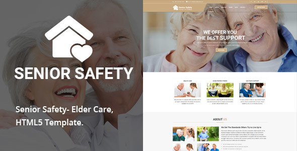 Senior Safety - Elder Care HTML5 Template