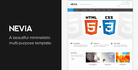 Nevia - responsywny szablon HTML5
