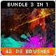 42 Watercolor Splatter Paint Photoshop Brushes Bundle - GraphicRiver Item for Sale