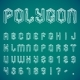 Polygon Alphabet and Numbers - GraphicRiver Item for Sale