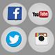 Social Logo Pack - Periscope, Facebook, YouTube, Twitter, Instagram, Vkontakte, Odnoklassniki, Thumb - 3DOcean Item for Sale