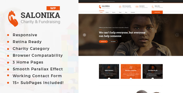 Salonika - Charity/Fundraising WordPress Theme
