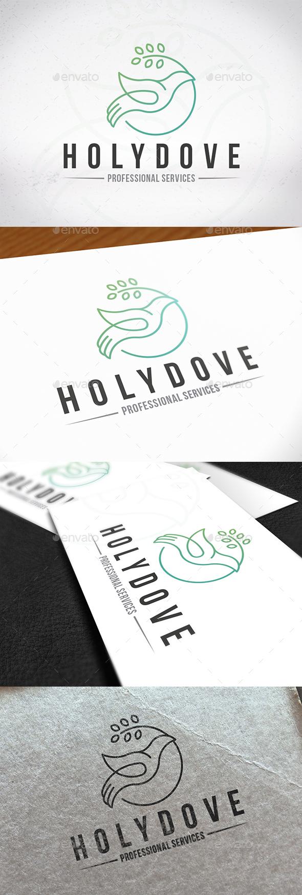 Holy Spirit Dove Logo