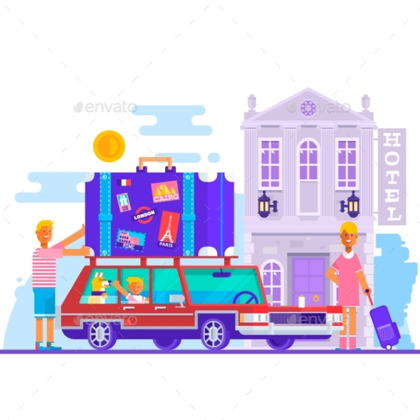 Family Travel Lifestyle Concept