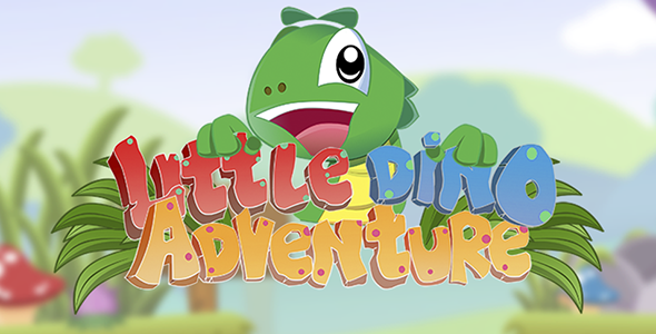 Little Dino Adventure - HTML5 Construct 2 Platform Game (.capx) Download