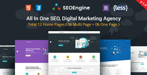 SEOEngine - SEO, Digital Marketing Agency HTML Template