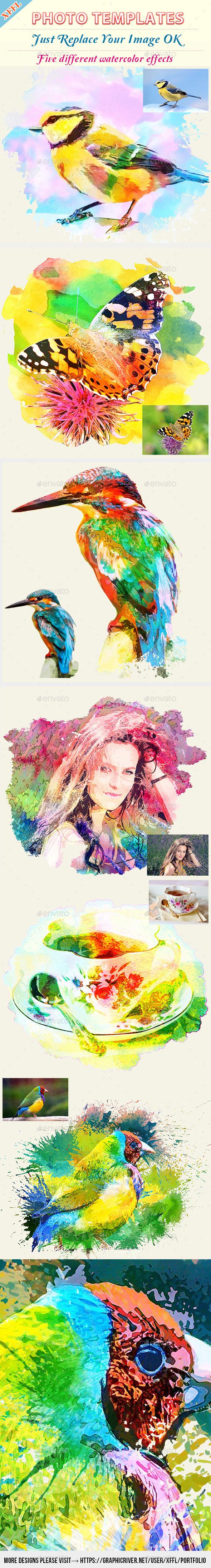 Watercolor Art Photo Template