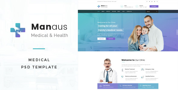 Manaus : Medical PSD Template