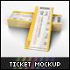 Ticket Mockup - GraphicRiver Item for Sale