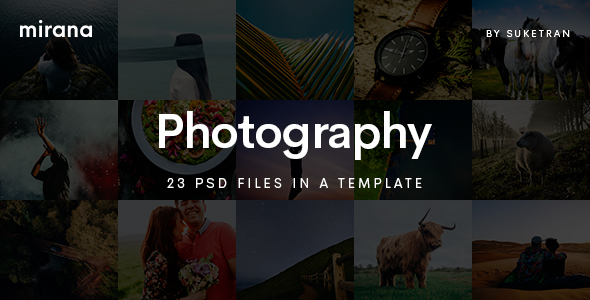 Mirana - Creative Photography PSD Template