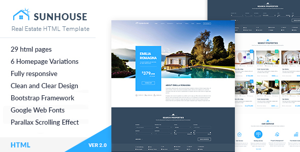 Real Estate HTML Template | SunHouse