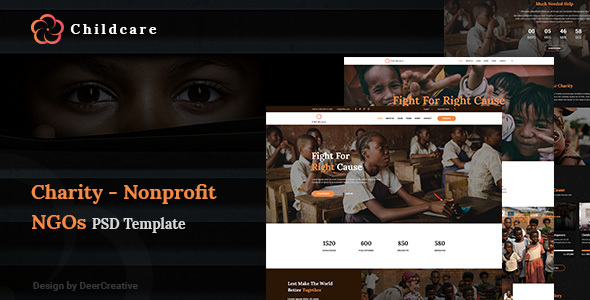 ChildCare | Non-Profit, Charity & Donations PSD Templates