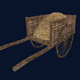 Medieval Wooden Cart Lowpoly Model - 3DOcean Item for Sale