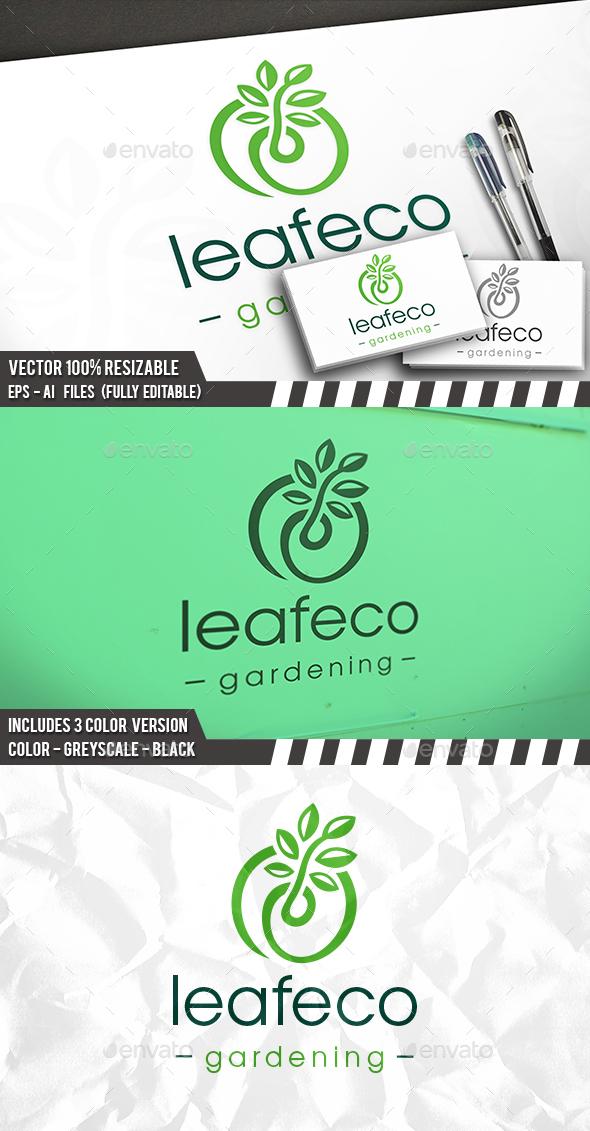 Green Plant Grow Logo