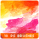 18 Watercolor Stains Paint Splatters Photoshop Brushes - GraphicRiver Item for Sale