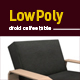 3D lowpoly luxury chair model - 3DOcean Item for Sale
